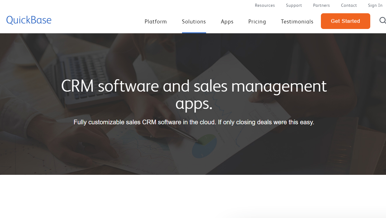 QuickBase sales management software